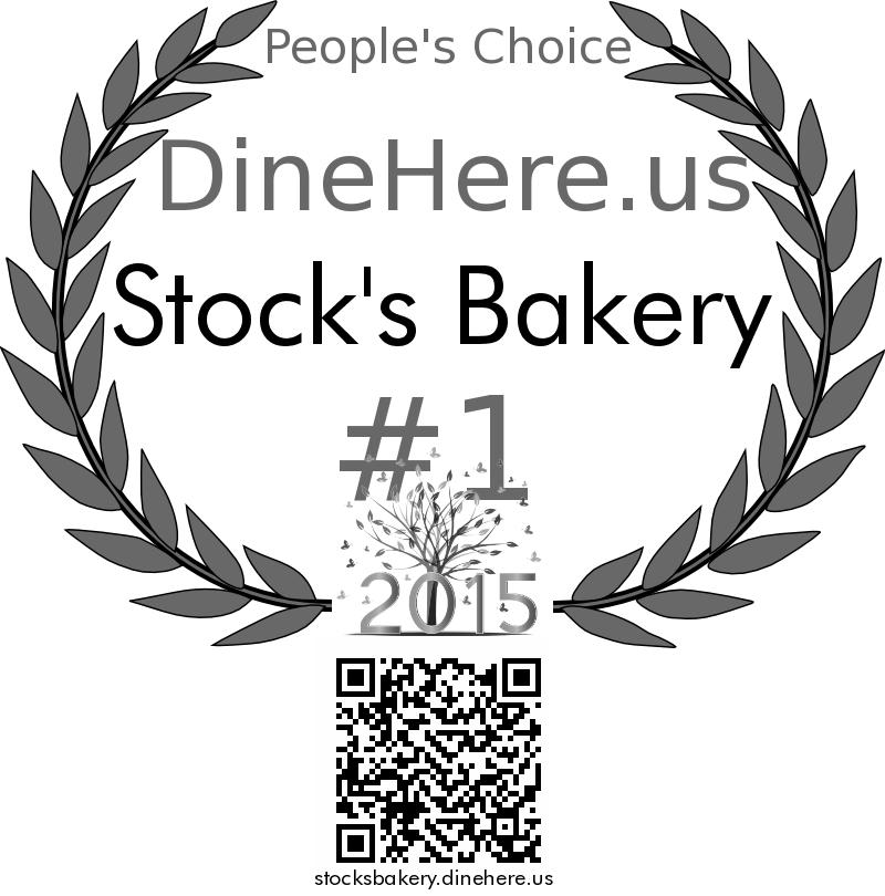 Stock's Bakery DineHere.us 2015 Award Winner