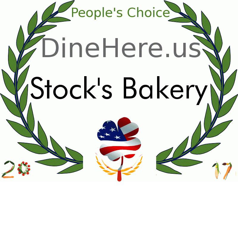 Stock's Bakery DineHere.us 2017 Award Winner